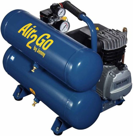 Jenny A2G246-HC4V Hand Carry Portable Electric Motor Air Compressor, 4.8 Gallon Tank, 1 Phase, 2 HP, 115V