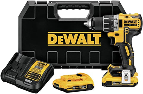 Factory Reconditioned Dewalt DCD791D2R 20V MAX XR Lithium-Ion Brushless Compact 1/2 in. Cordless Drill Driver Kit (2 Ah)