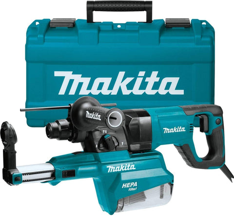 "Makita HR2661 1"" AVT Rotary Hammer, Accepts Sds-Plus Bits, w/Hepa Dust Extractor"