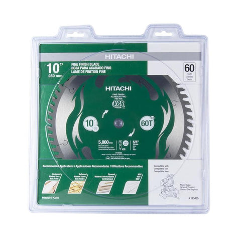 "Hitachi Viper 10"" 60 Tooth Miter Saw Blade"