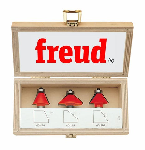 Freud 89-250 3 Piece Chamfer Bit Set