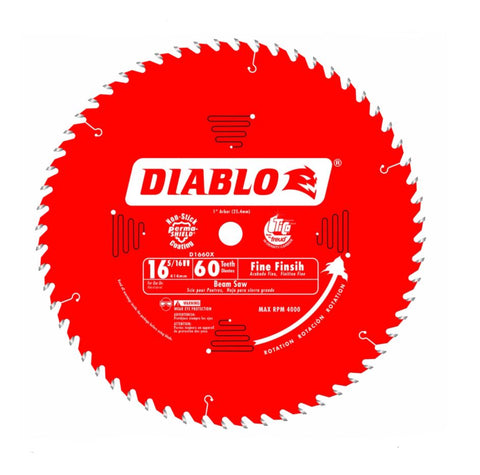 "Diablo 16-5/16"" x 60T Fine Finish Beam Saw Blade"