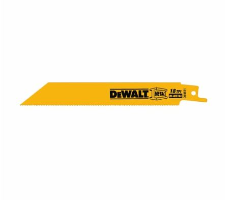 "DeWalt (10 Pack)  6"" 18-TPI Reciprocating Saw Blade"