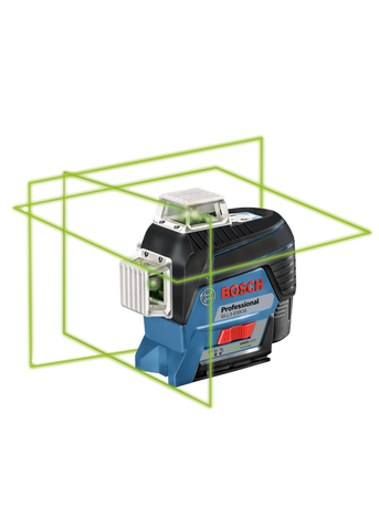 Bosch 360⁰ Connected Green-Beam Three-Plane Leveling and Alignment-Line Laser