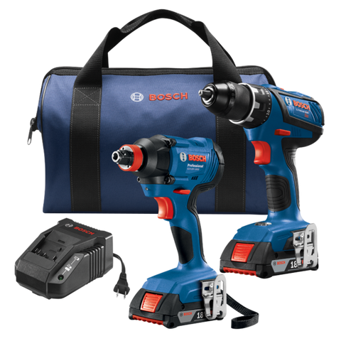 Factory Reconditioned Bosch 18V 2-Tool Combo Kit