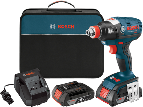Factory Reconditioned 18V EC Brushless Two-In-One Bit/Socket Impact Driver Kit