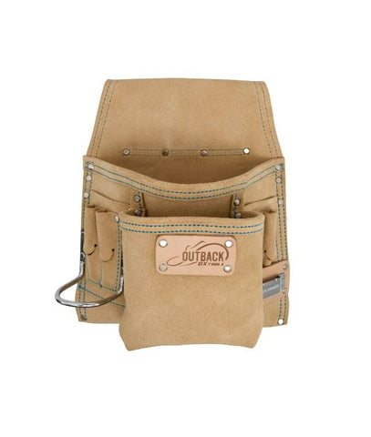 OX Trade 8-Pocket Tool/Fastener Pouch | Suede Leather