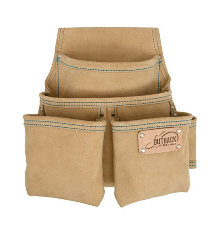 OX Trade 4-Pocket Fastener Pouch | Suede Leather