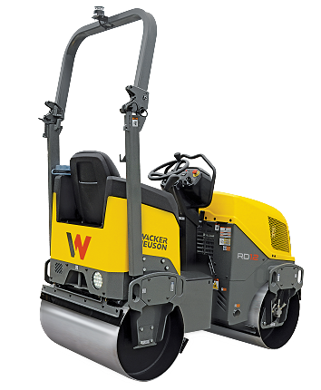 Wacker Neuson Tandem Vibratory Roller with Folding ROPS