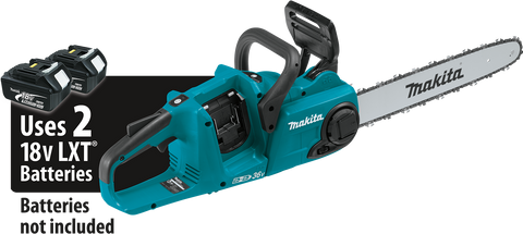 "Makita 18V X2 (36V) LXT® Lithium‑Ion Brushless 16"" Chain Saw"
