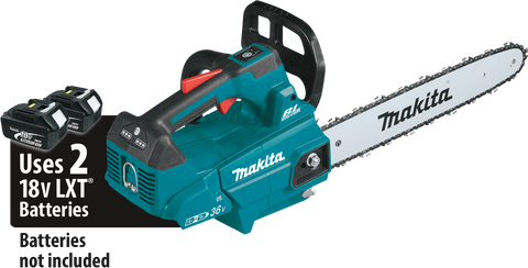 "Makita 18V X2 (36V) LXT® Lithium‑Ion Brushless 16"" Top Handle Chain Saw"