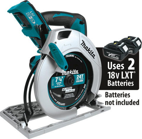 "Makita 18V X2 LXT® Lithium‑Ion (36V) Cordless 7‑1/4"" Circular Saw (Bare Tool)"