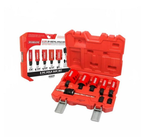 Diablo 9Pc General Purpose Bi-Metal Hole Saw Set