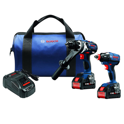 Bosch 18V 2-Tool Combo Kit W. (2) CORE18V 6.3Ah Batteries