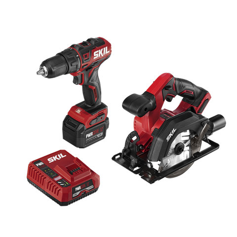 SKIL CB742701 PWR CORE 12 BRUSHLESS 12V DRILL DRIVER AND CIRCULAR SAW KIT