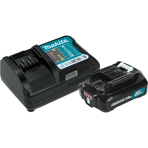 Makita® 12V Max CXT® Battery & Charger Starter Pack (2.0Ah)