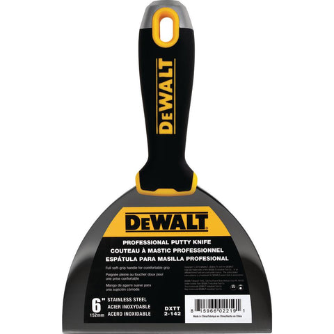 DeWalt 6 IN. STAINLESS STEEL PUTTY KNIVE DXTT 2-142