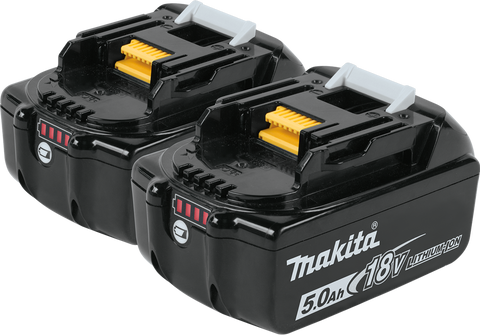 Makita® 18V LXT® Lithium‑Ion 5.0Ah Battery (2 Pack)