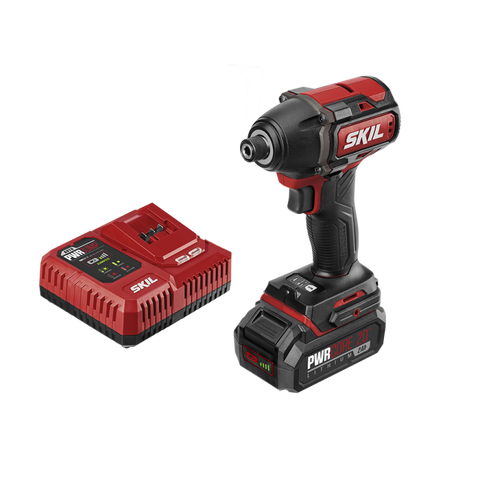 Skil® PWR CORE 20™ Brushless 20V 1/4'' Hex Impact Driver Kit