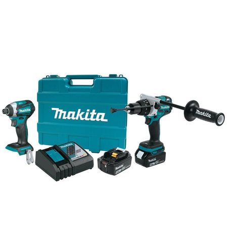 Makita 18V LXT® Lithium‑Ion Brushless Cordless 2‑Pc. Combo Kit (5.0Ah)