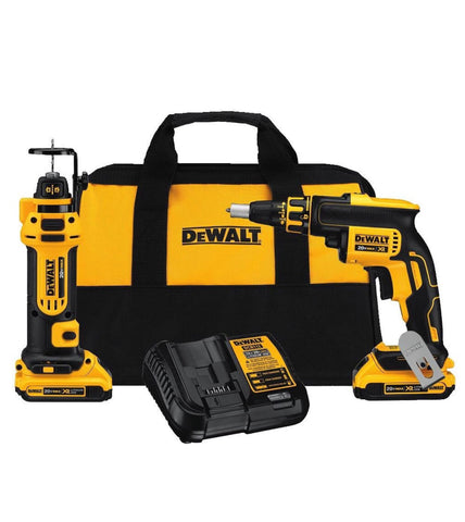 DeWalt 20V MAX* Brushless Drywall Screwgun & Drywall Cut-Out Tool Combo Kit (2.0Ah)