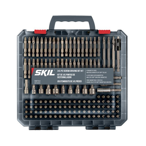 Skil® 141Pc Screw Driving Kit W. Bit Grip™