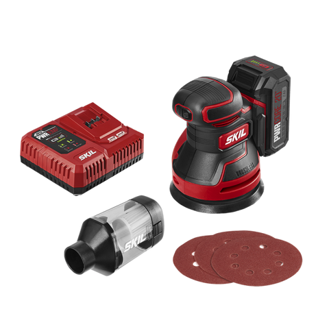 Skil® PWR CORE 20™ Brushless 20V Random Orbital Sander Kit