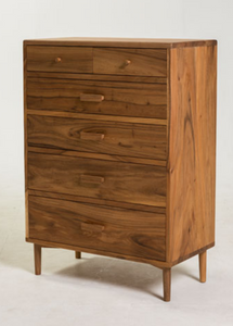 1) Mid Century  Style Chest of Drawers / Hardwood