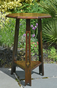 2A) Arts & Crafts Oak Lamp -Table