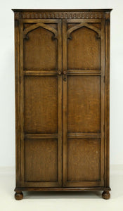1A) Double Wardrobe / Oak / Utility Furniture Circa 1947 (SOLD)