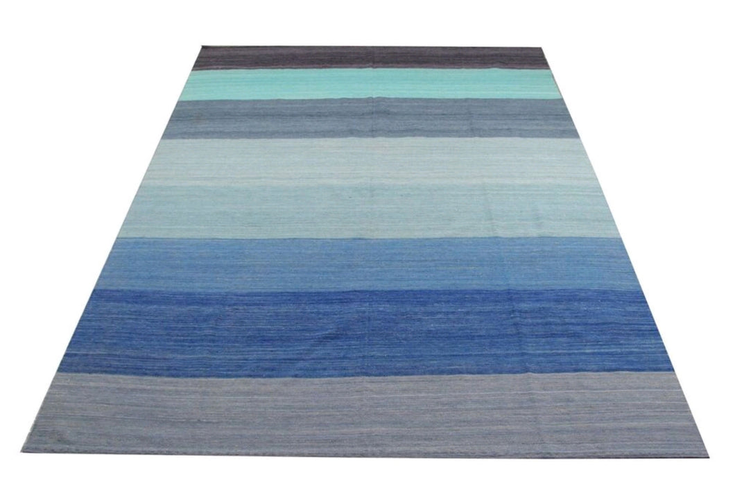 6) Contemporary Flat Woven Kilim Rug / Afghanistan