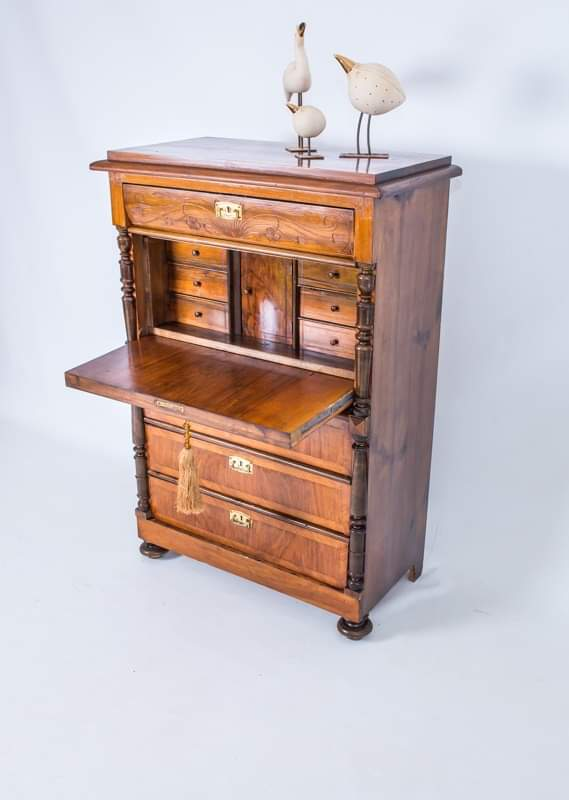 1A) Bureau-Ladies Desk-Chest of Drawers / Dutch / Early 20th Century