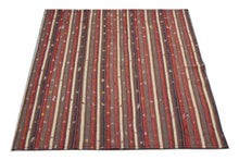 1A) Antique Persian Jajim Rug / Flat Woven