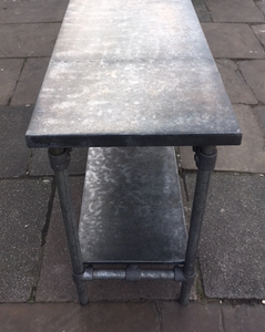 2) Zinc Top Industrial Style Console Table (Bespoke)