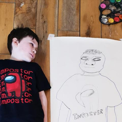 HOME SCHOOL ART PROJECT - Body Tracing
