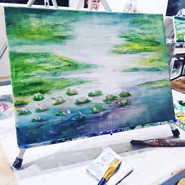 Monet Water Lilies Zoom Adult Paint & Sip Evening - Friday 29th January 2021