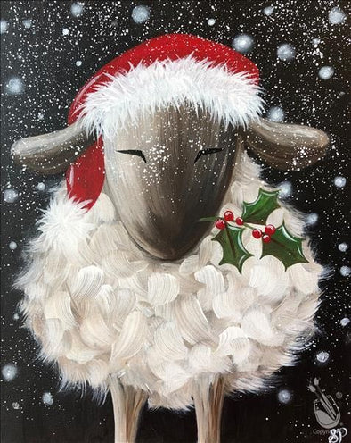 Family zoom art class paint a Christmas Sheep - Sunday 20th December