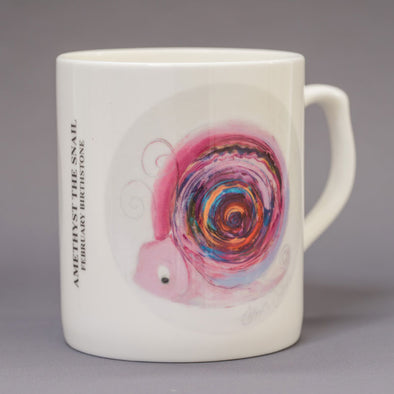 February Birthstone Bone China Mug