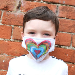 Children's Home is where the heart is Face Mask