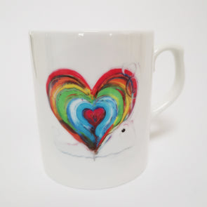 'Home is where the heart is' Bone China Mug
