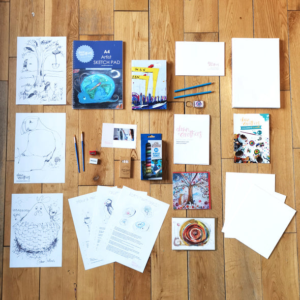 Kids Art Project Pack - World