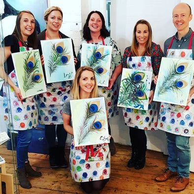 Peacock Feathers - Adult Paint & Sip Evening - Thursday 7th May 2020