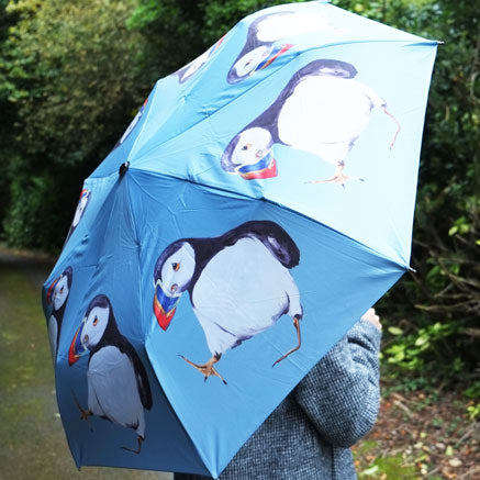 Clown of the Sea, Puffin Unique Art Umbrella