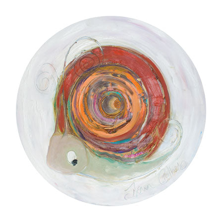 Garnet the Snail - January Birthstone Ltd Edition Print