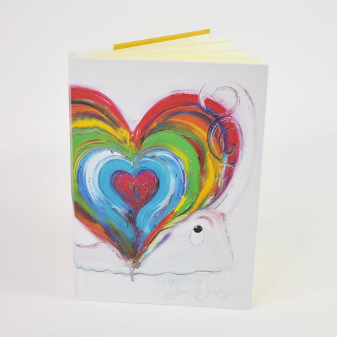 'Home is where the heart is' Design A5 Hardback Notebook