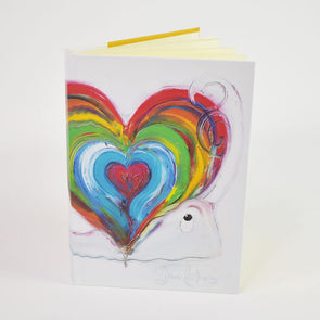 'Home is where the heart is' Design A6 Hardback Notebook