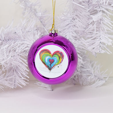 Christmas Baubles - Hope and Heart