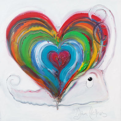 Home Is Where The Heart Is Snail - Ltd Edition Print