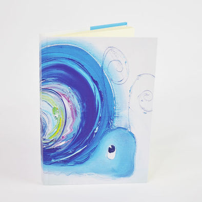Hope the Snail Design A6 Hardback Notebook