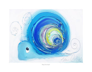Hope the Snail - Framed Ltd Edition Print Artist Proof